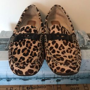 SPERRY TOP-SIDER LEOPARD PONY HAIR DRIVING SHOE